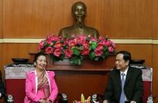 Củng cố mối quan hệ hợp tác giữa hai tổ chức Mặt trận Việt Nam-Lào