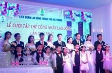 Hải Phòng tổ chức Lễ cưới tập thể công nhân lao động lần thứ nhất