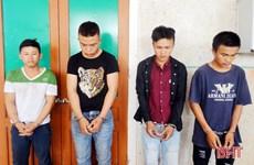 Hà Tĩnh: Bắt giữ 4 đối tượng chặn ôtô trên quốc lộ cướp tài sản