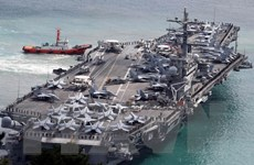 Tàu sân bay Mỹ bắt đầu tuần tra vùng biển gần bán đảo Triều Tiên