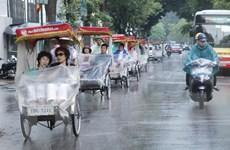 Thủ đô Hà Nội chiều tối và đêm nay có mưa rào, dông vài nơi