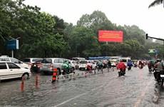 TP.HCM: Mưa lớn gây tắc nghẽn giao thông tại cửa ngõ Tân Sơn Nhất
