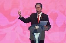 Tổng thống Indonesia Joko Widodo tiếp Ngoại trưởng Nhật Bản Taro Kono