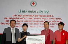 Tiếp nhận ủng hộ của các tổ chức, cá nhân giúp người dân vùng mưa lũ