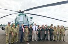 Quân đội Lào tiếp nhận 4 máy bay trực thăng Mi-17 do Nga chế tạo