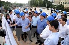 Đẩy nhanh tiến độ thông xe cầu vượt nút giao An Dương-Thanh Niên