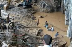 Vụ sập hang khai thác vàng: Mưa lớn khiến cứu hộ gặp nhiều khó khăn