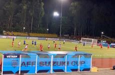 Đội tuyển Việt Nam ra sân Bacolod làm quen trước giờ thi đấu