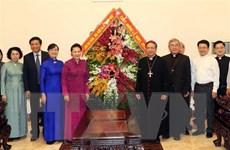 Chủ tịch Quốc hội chúc mừng Giáng sinh tại Tổng Giáo phận TP.HCM