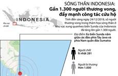 Sóng thần ở Indonesia: Gần 1.300 người thương vong, đẩy mạnh cứu hộ