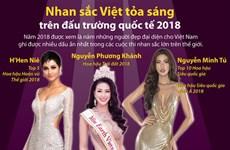 [Infographics] Nhan sắc Việt tỏa sáng trên đấu trường quốc tế 2018