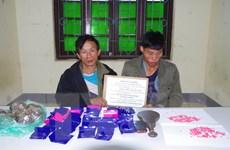 Bắt quả tang hai người Lào vận chuyển trái phép ma túy qua biên giới