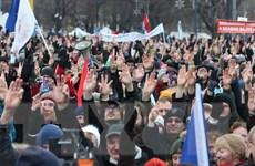 Hàng nghìn người biểu tình phản đối luật lao động sửa đổi của Hungary