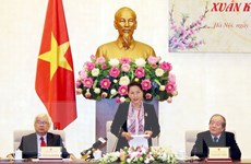 Chủ tịch Quốc hội Nguyễn Thị Kim Ngân gặp mặt văn nghệ sỹ dịp Tết 2019