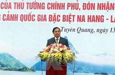 Ông Phạm Minh Chính dự lễ phát động thi đua tại tỉnh Tuyên Quang
