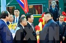 Chủ tịch Triều Tiên Kim Jong-un đến ga Đồng Đăng bắt đầu thăm Việt Nam