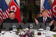 Nhà lãnh đạo Triều Tiên và Tổng thống Mỹ kết thúc bữa tối làm việc