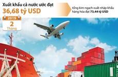 Hai tháng đầu năm, xuất khẩu cả nước ước đạt 36,68 tỷ USD