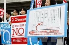 Người dân đảo Okinawa phản đối kế hoạch tái bố trí căn cứ quân sự Mỹ