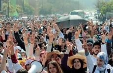 Cảnh sát Maroc giải tán hàng nghìn giáo viên biểu tình ở tòa Quốc hội