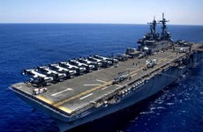 Tàu chiến Mỹ đến Biển Đông tham gia tập trận với Philippines