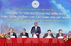 Hình ảnh Thủ tướng Nguyễn Xuân Phúc với cộng đồng người Việt ở Séc