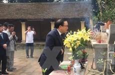 Lãnh đạo thành phố Hà Nội dâng hương tưởng nhớ Vua Ngô Quyền