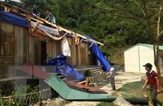 Giông lốc làm 185 ngôi nhà ở Lào Cai bị tốc mái và sập đổ hoàn toàn