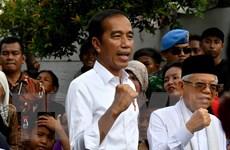 Tổng thống đương nhiệm Joko Widodo có bài phát biểu sau chiến thắng