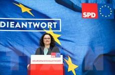 Đức: Chủ tịch SPD Andrea Nahles tuyên bố từ chức vào ngày 3/6