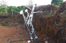 Lâm Đồng: Một thợ điện tử vong do cột điện gãy đè trúng