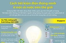 [Infographics] Cách tiết kiệm điện thông minh ở một số nước