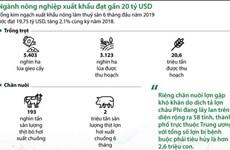 [Infographics] Ngành nông nghiệp xuất khẩu đạt gần 20 tỷ USD