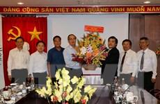 Bí thư Thành ủy Nguyễn Thiện Nhân chúc mừng Cơ quan TTXVN phía Nam