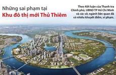[Infographics] Những sai phạm tại Khu đô thị mới Thủ Thiêm