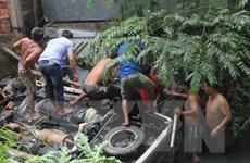 Tai nạn giao thông trên cầu Hàm Luông, 5 người thương vong