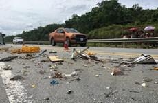 Ba xe ôtô đâm liên hoàn trên cao tốc Hà Nội-Lào Cai, 3 người bị thương