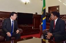 Phó Thủ tướng Trịnh Đình Dũng hội kiến Thủ tướng Tanzania
