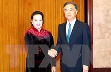 Chủ tịch Quốc hội làm việc với Chủ tịch Chính hiệp Trung Quốc