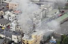 Cảnh sát bắt đầu khám nghiệm hiện trường vụ cháy xưởng phim hoạt hình