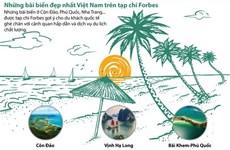 [Infographics] Những bãi biển đẹp nhất Việt Nam trên tạp chí Forbes