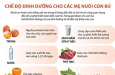 [Infographics] Chế độ dinh dưỡng cho các mẹ nuôi con bú