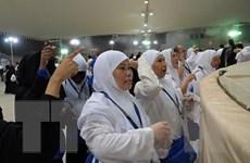 Người hành hương Hồi giáo thực hiện nghi lễ ném đá vào quỷ dữ