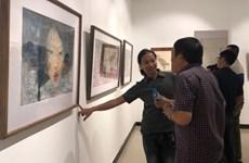 """""""Góp dó 2"""": Tình yêu hội họa và niềm đam mê gửi vào giấy dó"""