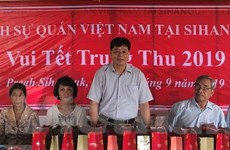 Tết Trung Thu đầm ấm của trẻ em Việt kiều tại tỉnh Preah Sihanouk
