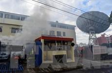 Người biểu tình của Ecuador tấn công đài truyền hình ở thủ đô Quito