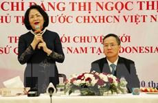 Phó Chủ tịch nước làm việc với Đại sứ quán Việt Nam ở Indonesia