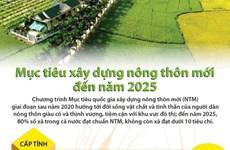 [Infographics] Mục tiêu xây dựng nông thôn mới đến năm 2025