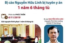 [Infographics] Bị cáo Nguyễn Hữu Linh bị tuyên y án 1 năm 6 tháng tù