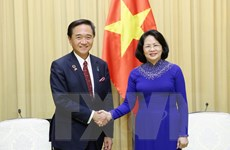 Phó Chủ tịch nước Đặng Thị Ngọc Thịnh tiếp Thống đốc tỉnh Kanagawa
